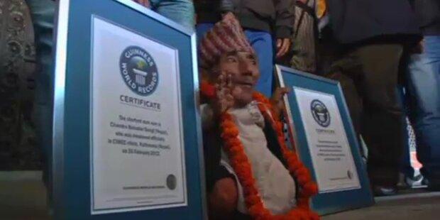 Guinness ehrt kleinsten Menschen der Welt