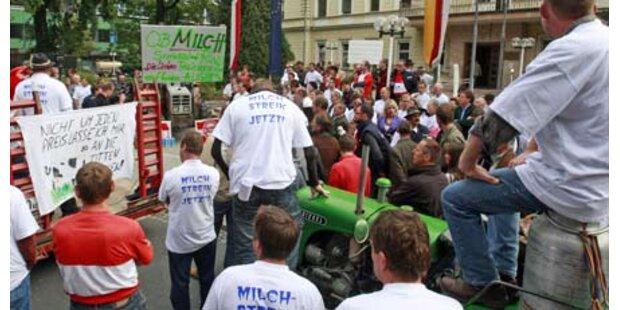 Bauern legten Klagenfurt lahm
