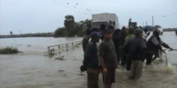 Schwere Überflutungen in Sri Lanka