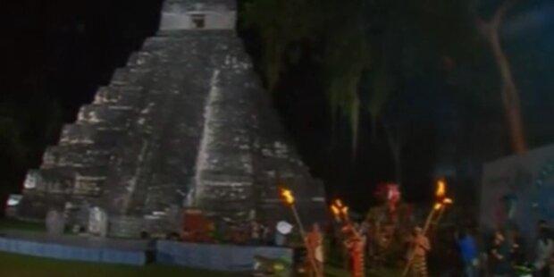 Maya-Zeremonien zum Weltuntergang