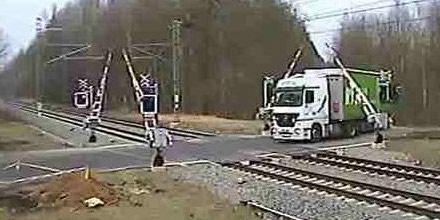Unfall Bahnübergang Tschechien