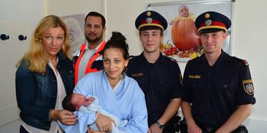 Nach Verfolgung: Polizisten halfen bei Geburt