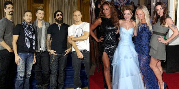 Backstreet Boys und Spice Girls auf Tour
