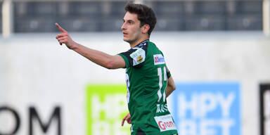 Ante Bajic jubelt für die SV Ried