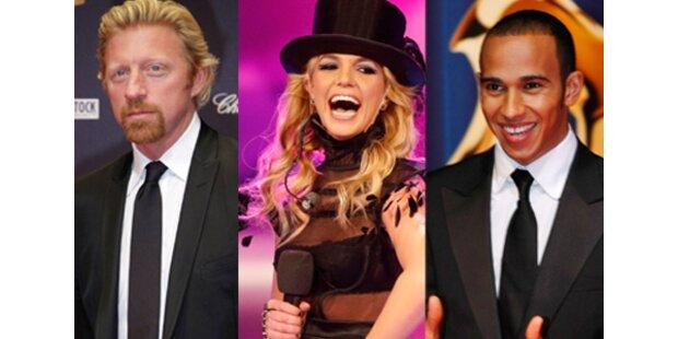 Boris solo & schüchtern, Britney fror, Lewis happy