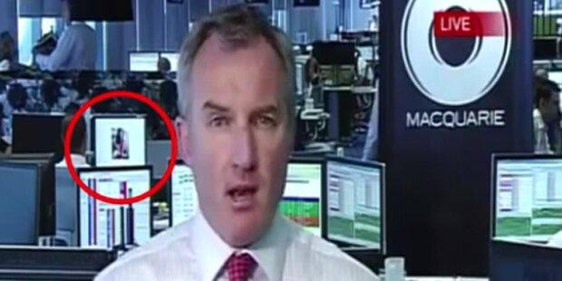 Banker live beim Porno-Schauen erwischt