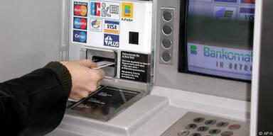 Bankomaten schluckten teilweise die Karten