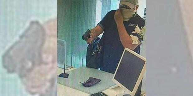 Die Polizei sucht diesen Bankräuber aus Linz