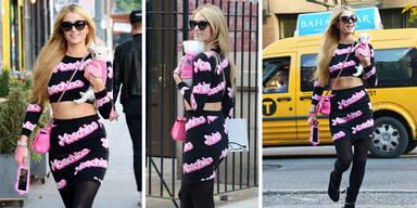 Paris Hilton schlendert als Barbie durch New York