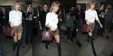 Taylor Swift im Schulmädchen Outfit