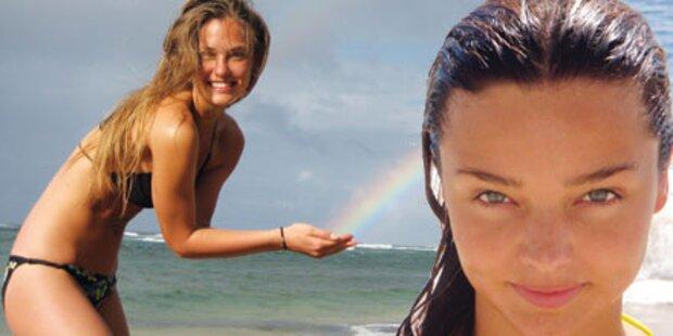 Kerr & Refaeli: Im Bikini, ohne Makeup