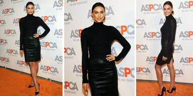 Irina Shayk sexy in schwarz