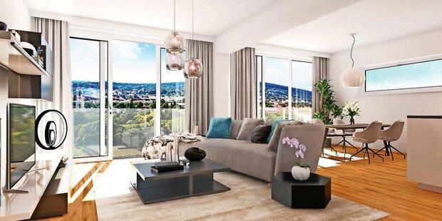 Luxuriöser Ausblick aus 33 Wohnungen