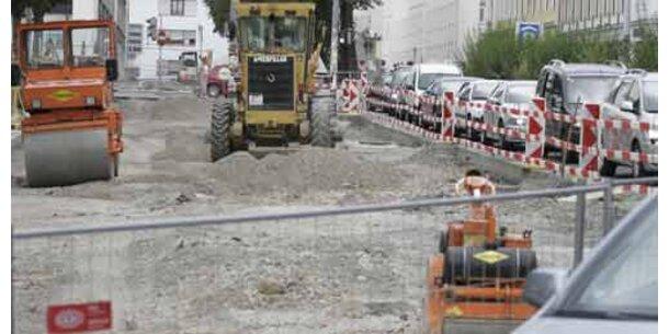 Rege Bautätigkeit in der Osterwoche in Wien