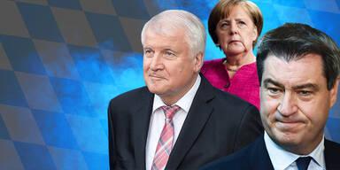 Bayern Wahl Merkel Seehofer Söder