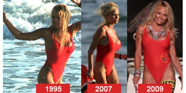 Pam trägt wieder ihren roten Badeanzug