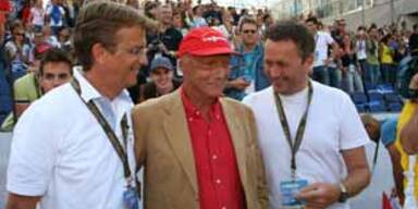 Hannes Jagerhofer, Niki Lauda, Hannes Ametsreiter