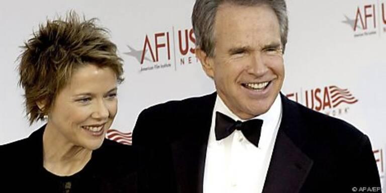 Beatty mit Ehefrau Annette Benning