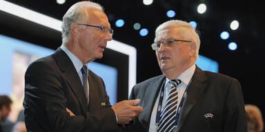 Ehemalige DFB-Funktionäre Franz Beckenbauer und Theo Zwanziger