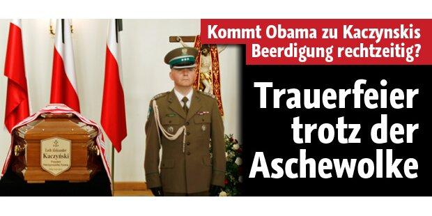 Kaczynski: Trauerfeier trotz Aschewolke