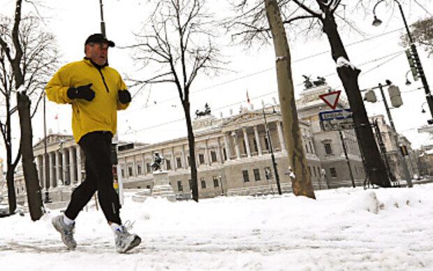 Bei Minusgraden nicht schnell joggen
