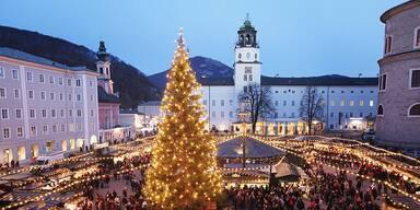 Salzburg legt das Weihnachtsgewand an