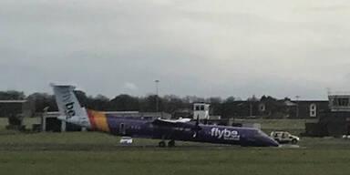 Flugzeug landete in Belfast auf der Nase