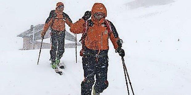 Verirrter Skifahrer von Bergrettern geborgen