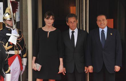 Berlusconi Obama Sarkozy Bruni G8 Deauville