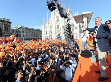 Berlusconi Protest Pisapia
