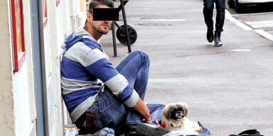 Bettler mit Hund