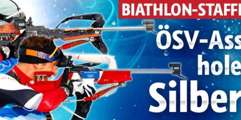 ÖSV-Staffel holt die Silbermedaille