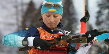 Biathlon-Staffel: Ukrainerinnen holen Gold