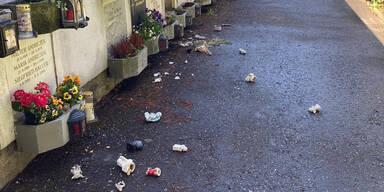 Randalierer verwüstet Gräber in Graz