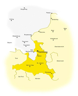 Sendegebiet 2 Antenne Salzburg