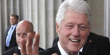 Bill Clinton bei der amfAR-Gala in Wien