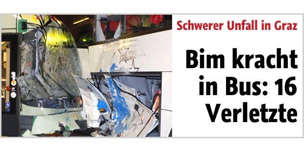 Graz: Rund 16 Verletzte bei Bim-Unfall