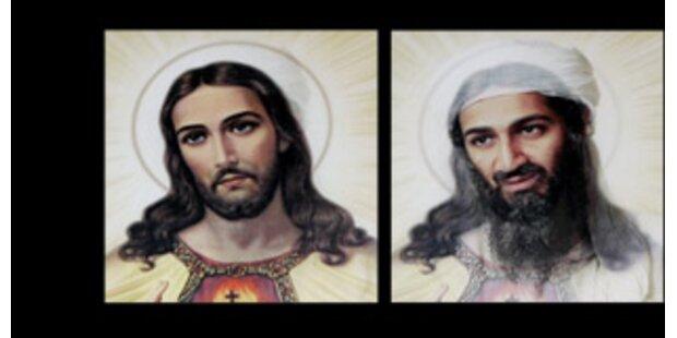 Hologramm einer Künstlerin  - aus Jesus wird Bin Laden