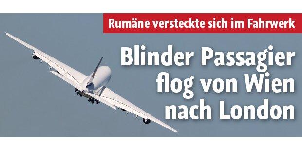 Rumäne reiste im Fahrwerk von Jumbo-Jet