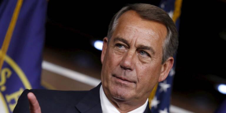Führender Republikaner Boehner zurückgetreten