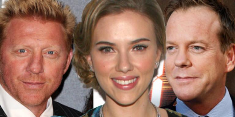 Boris Becker, Scarlett Johansson, Kiefer Sutherland