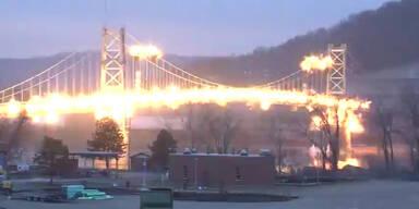 483m Brücke erfolgreich gesprengt