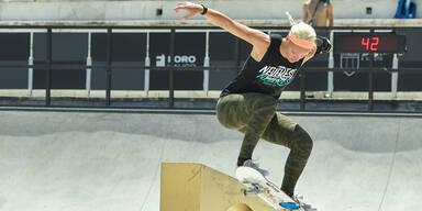 Skateboarderin Julia Brückler
