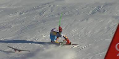Ski-Schock! Braathen stürzt ins Ziel