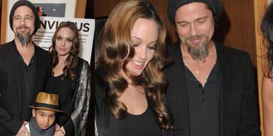 Brad Pitt & Angelina Jolie mit Sohn Maddox: Lächeln gegen Krisen-Gerüchte