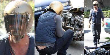 Brad Pitt überstand Motorradunfall unverletzt