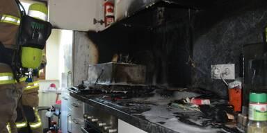 Küchenbrand in Hallein Bild