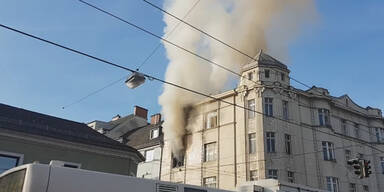 Brand Linz Flüchtling