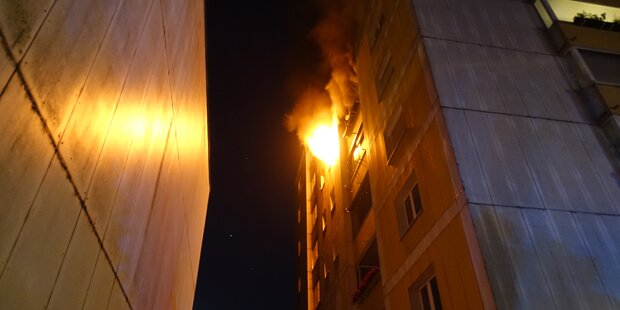 Vier Verletzte bei Brand in Linz