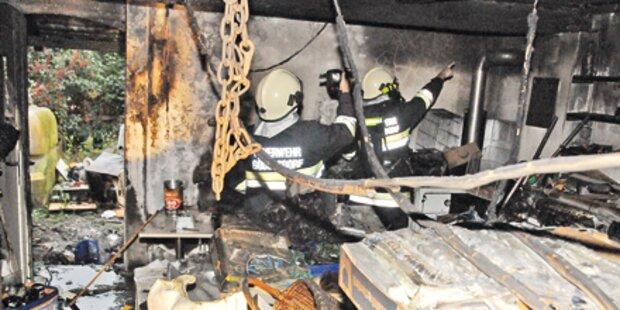 Werkstättenbrand hielt Florianis auf Trab